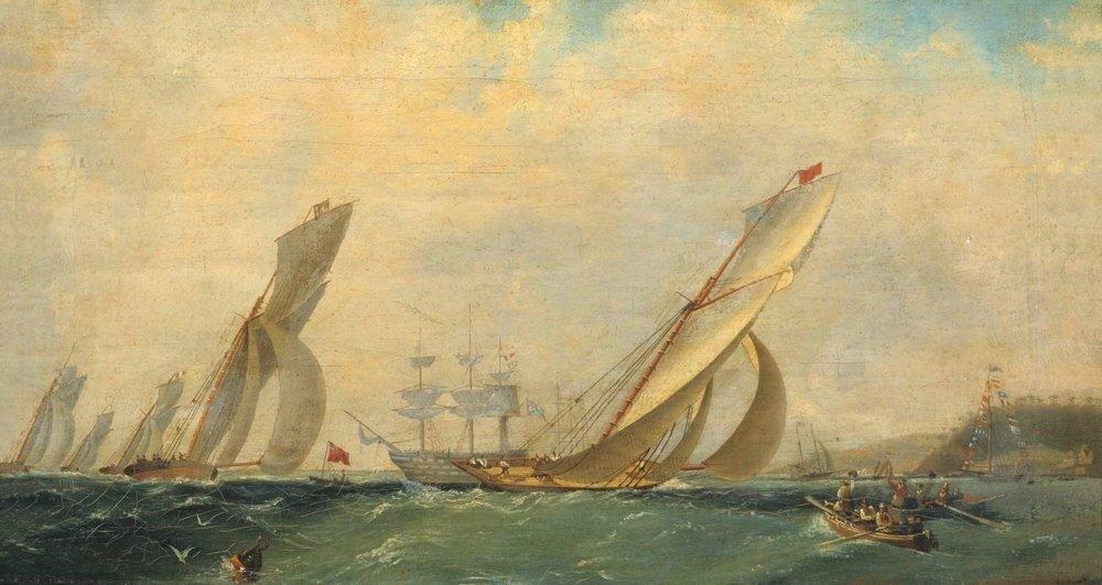 Фрегат на море. 1838.jpg