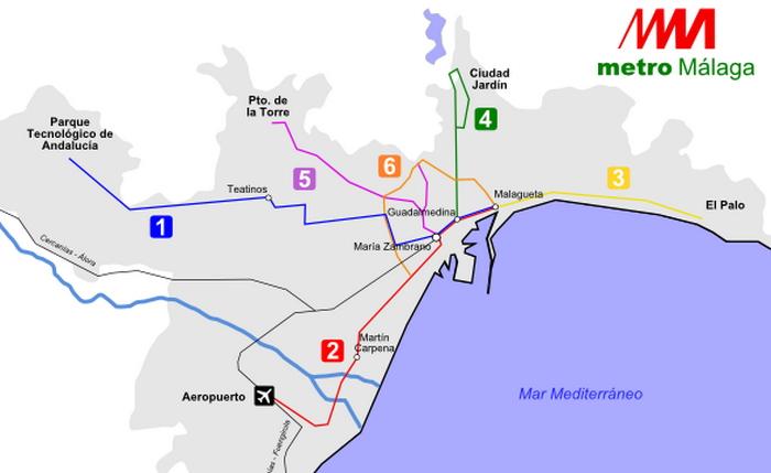 MM - метро в Малаге