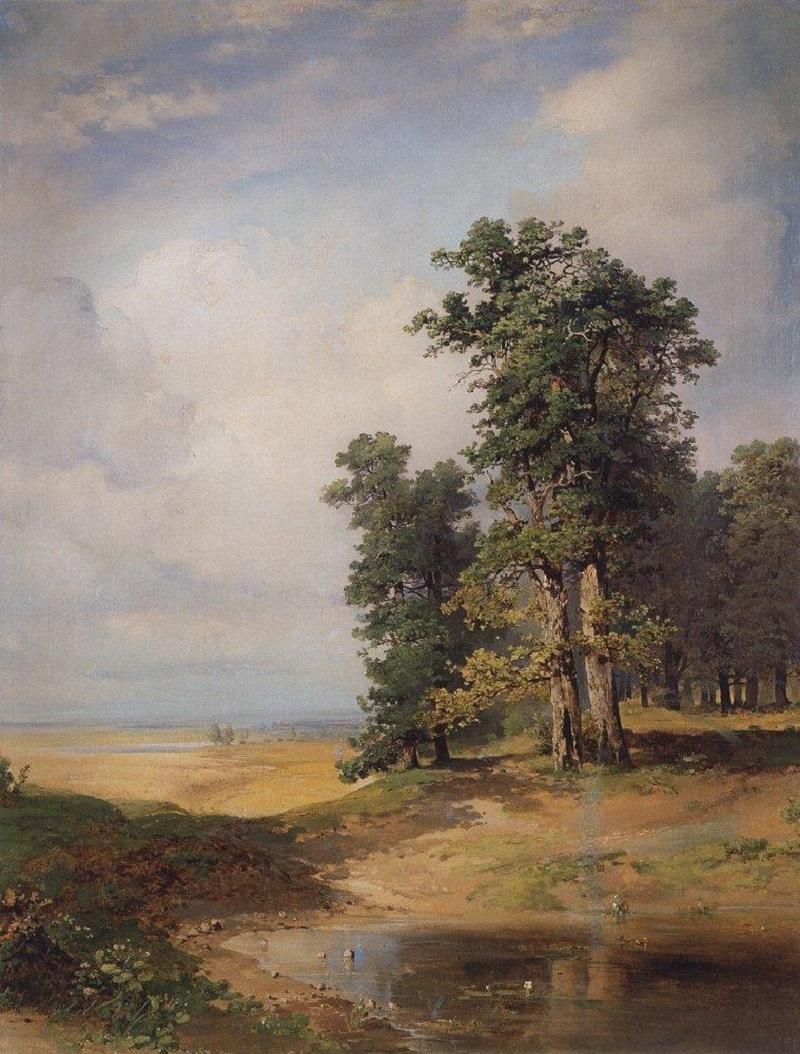 Летний пейзаж с дубами. Середина 1850-х.jpg
