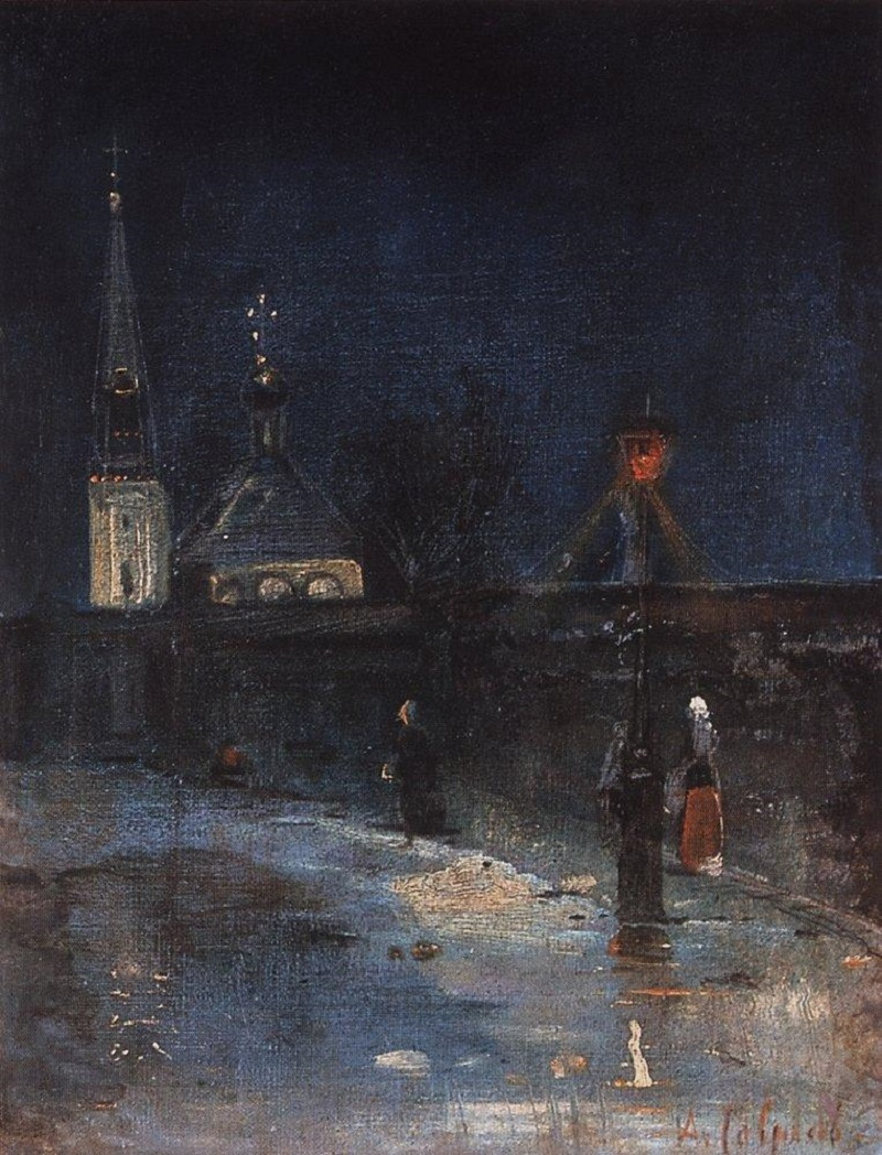 К заутрене. Морозная ночь. 1880-1890-е.jpg