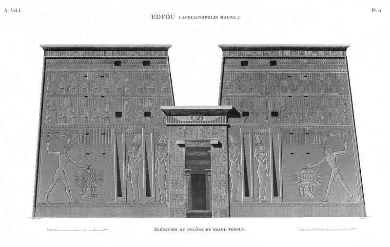 Храм Эдфу, фасад входа в храм
