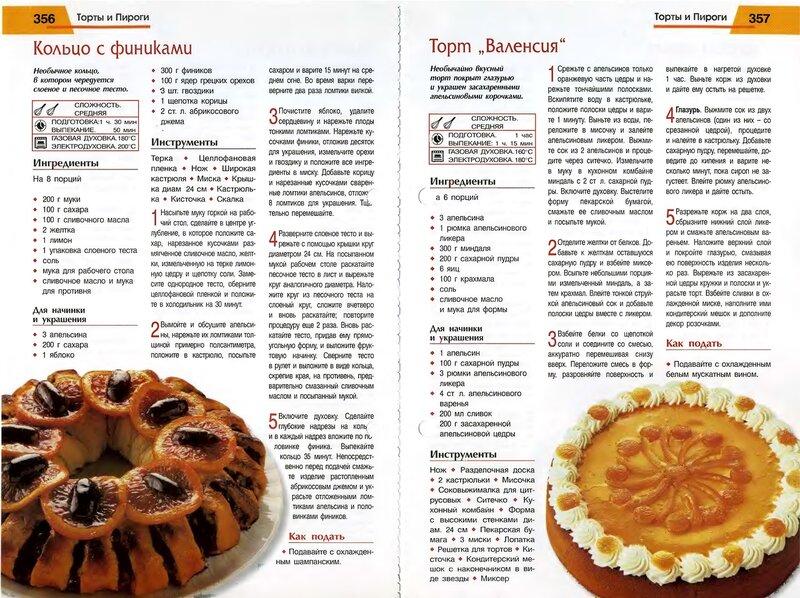 Рецепты с тортов. пирогов
