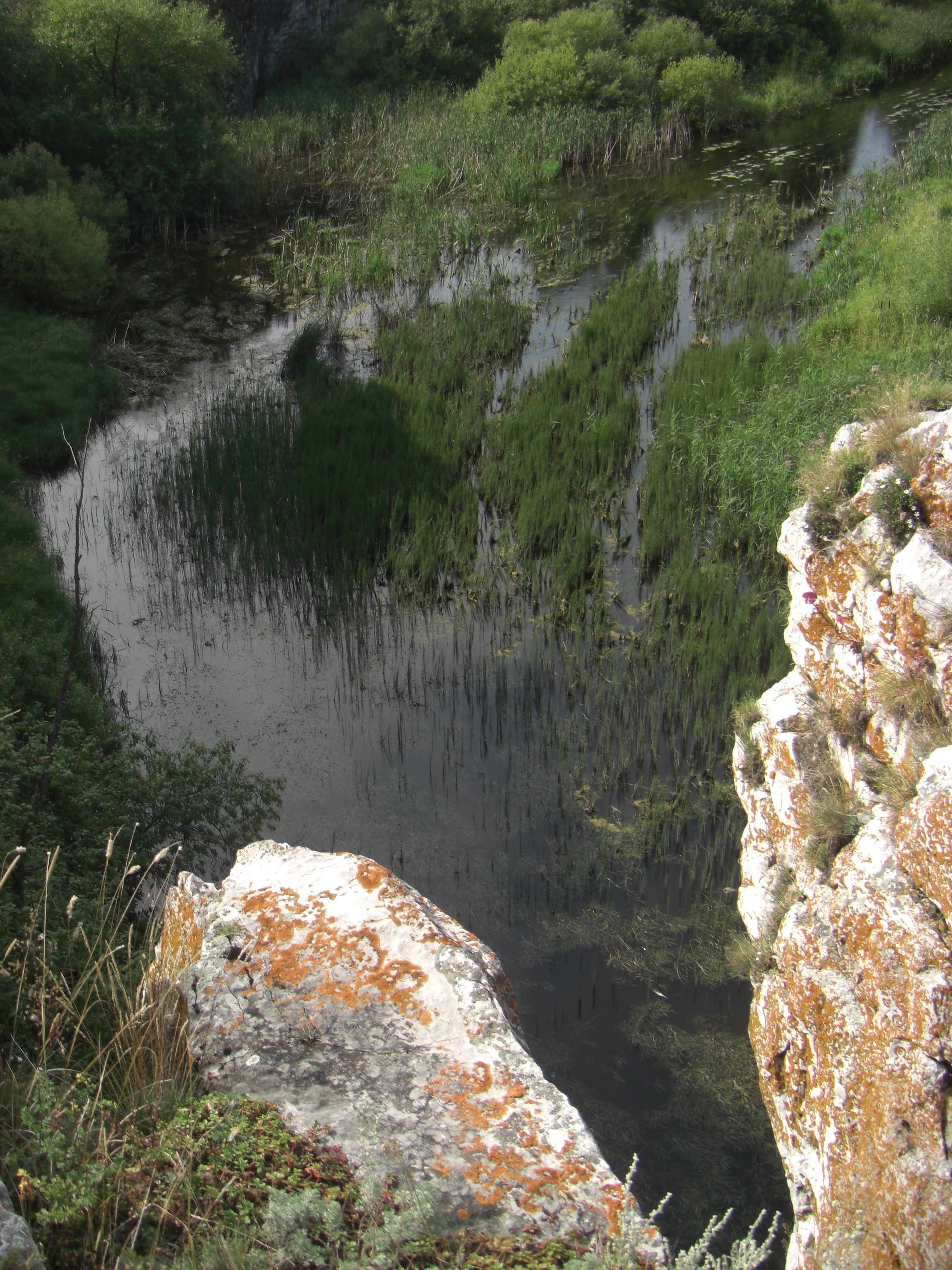Река Миасс у подножия каньона (22.08.2014)