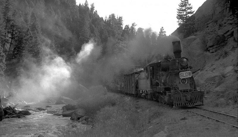 Colorado & Southern narrow gauge train, engine number 71, 1938.