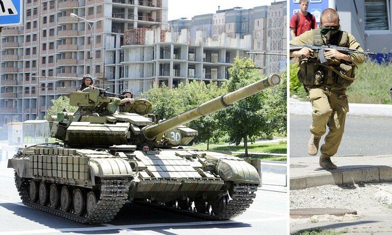 CORRECTING LOCATIONPro-Russian militant