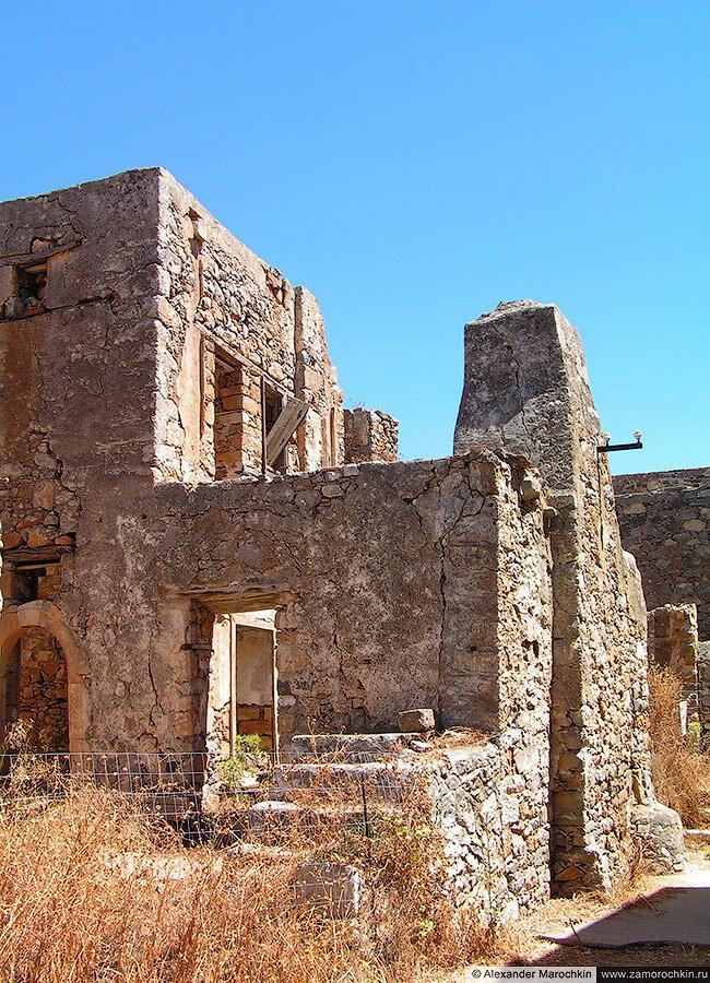 Развалины на острове Спиналонга, Греция