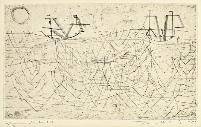 Zao Wou-Ki, «La Pêche», 1951 © Zao Wou-Ki