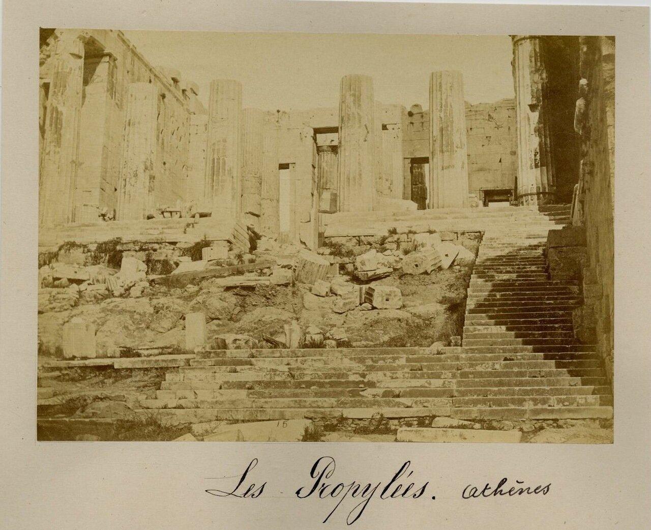 1875. Акрополь. Пропилеи
