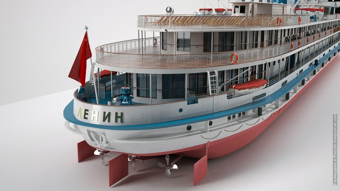 д/э Ленин 3D модель