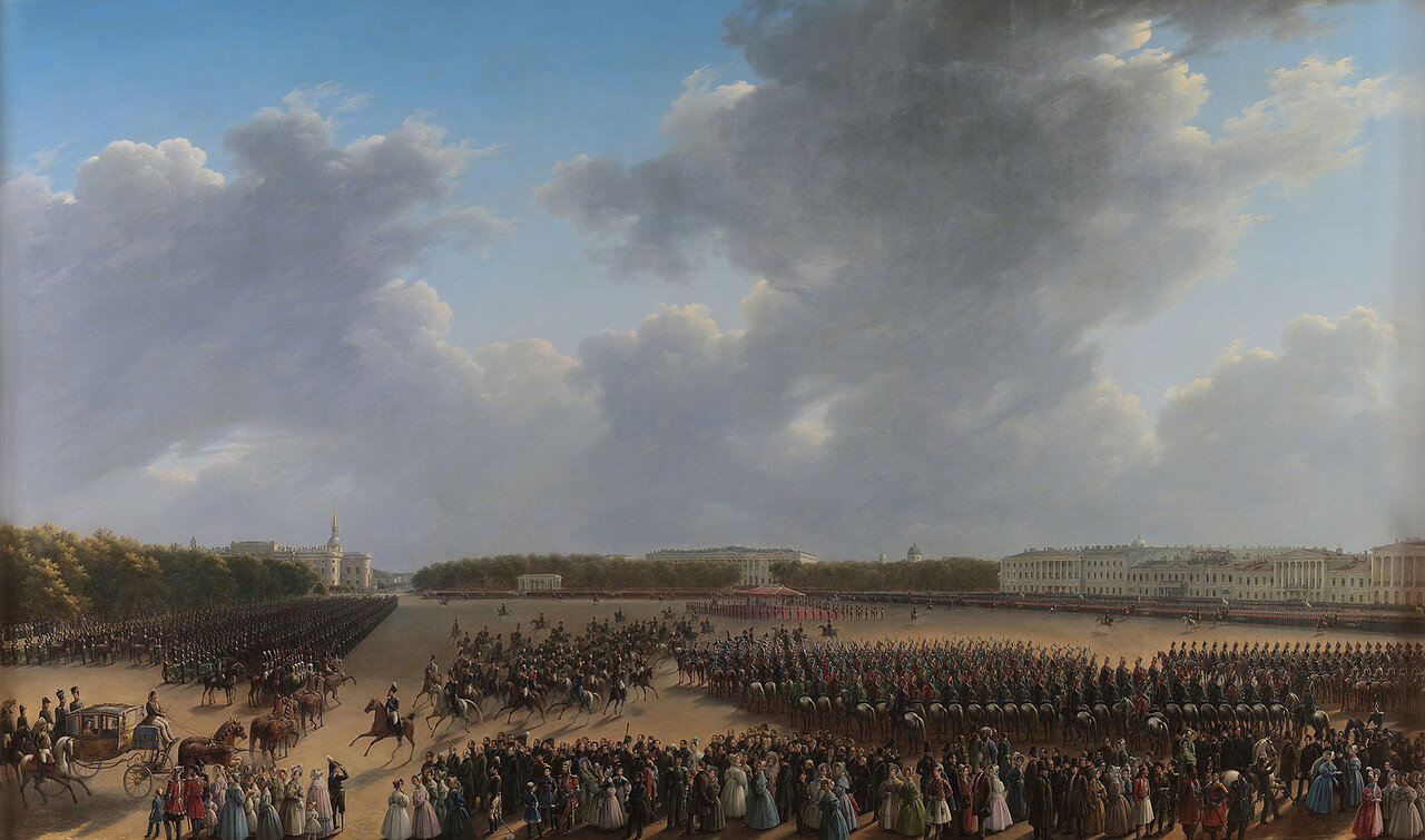 Grigory_Chernetsov_-_Parade_Celebrating_the_End_of_Military_Action_in_the_Kingdom_of_Poland_on_Tsaritsa_Meadow_in_St_Petersburg_on_6_october_1831_-_Google_Art_Pr.jpg