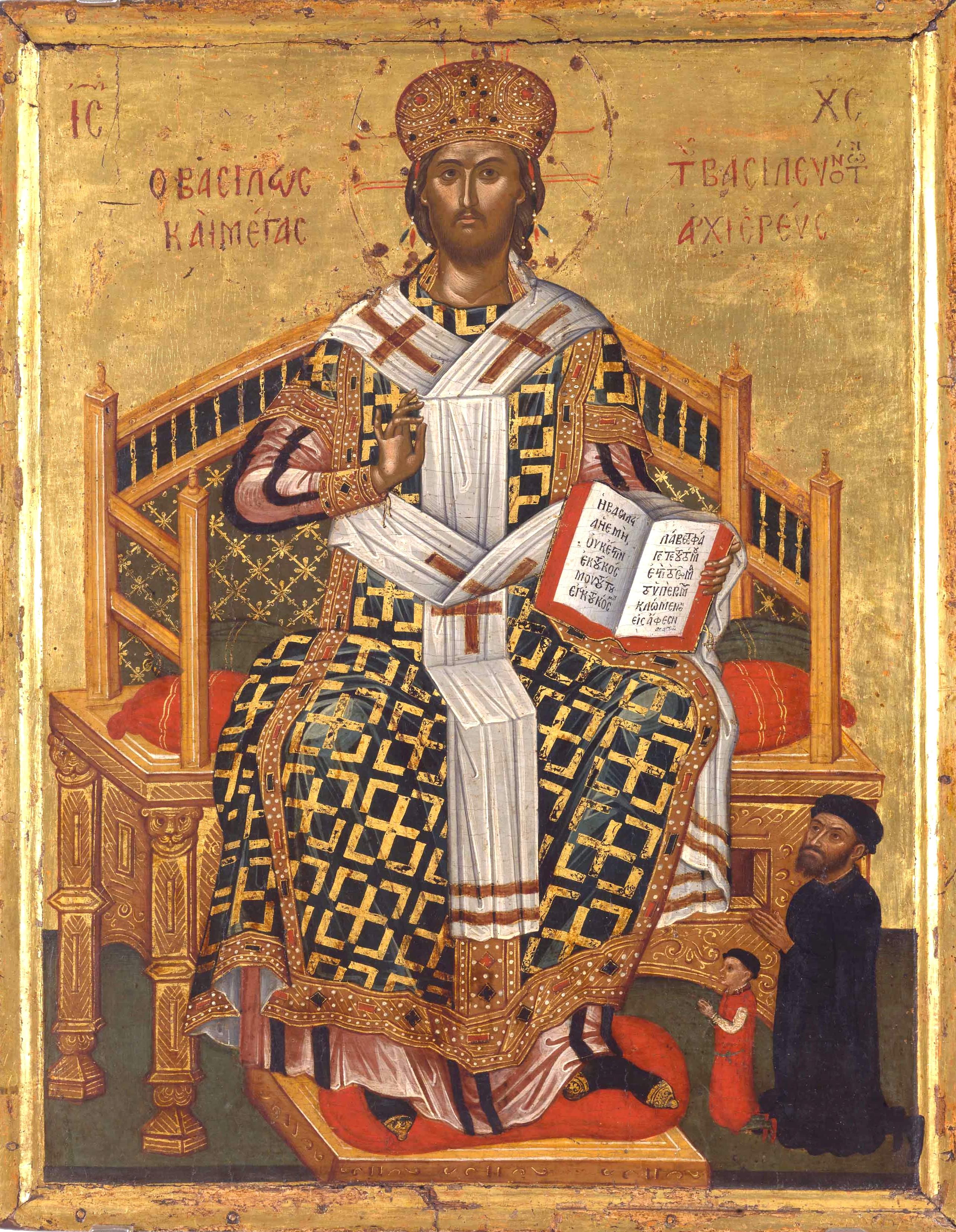 Христос Великий Архиерей. Греческая икона XVI века.