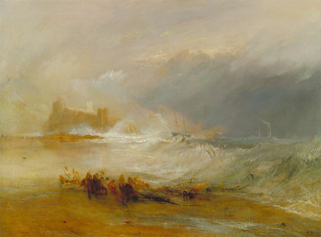 Wreckers - Coast of Northumberland, with a Steam-Boat Assisting a Ship Off Shore, 1834.jpg
