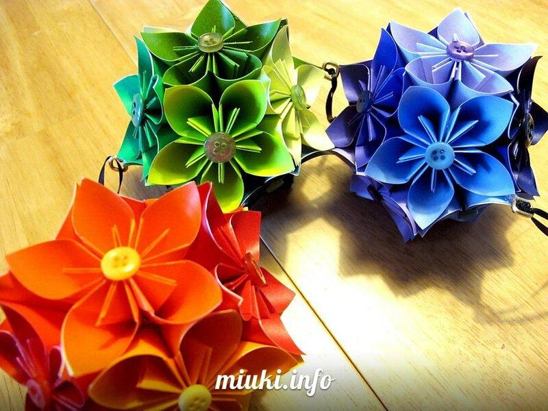 Кусудама Цветок для украшения