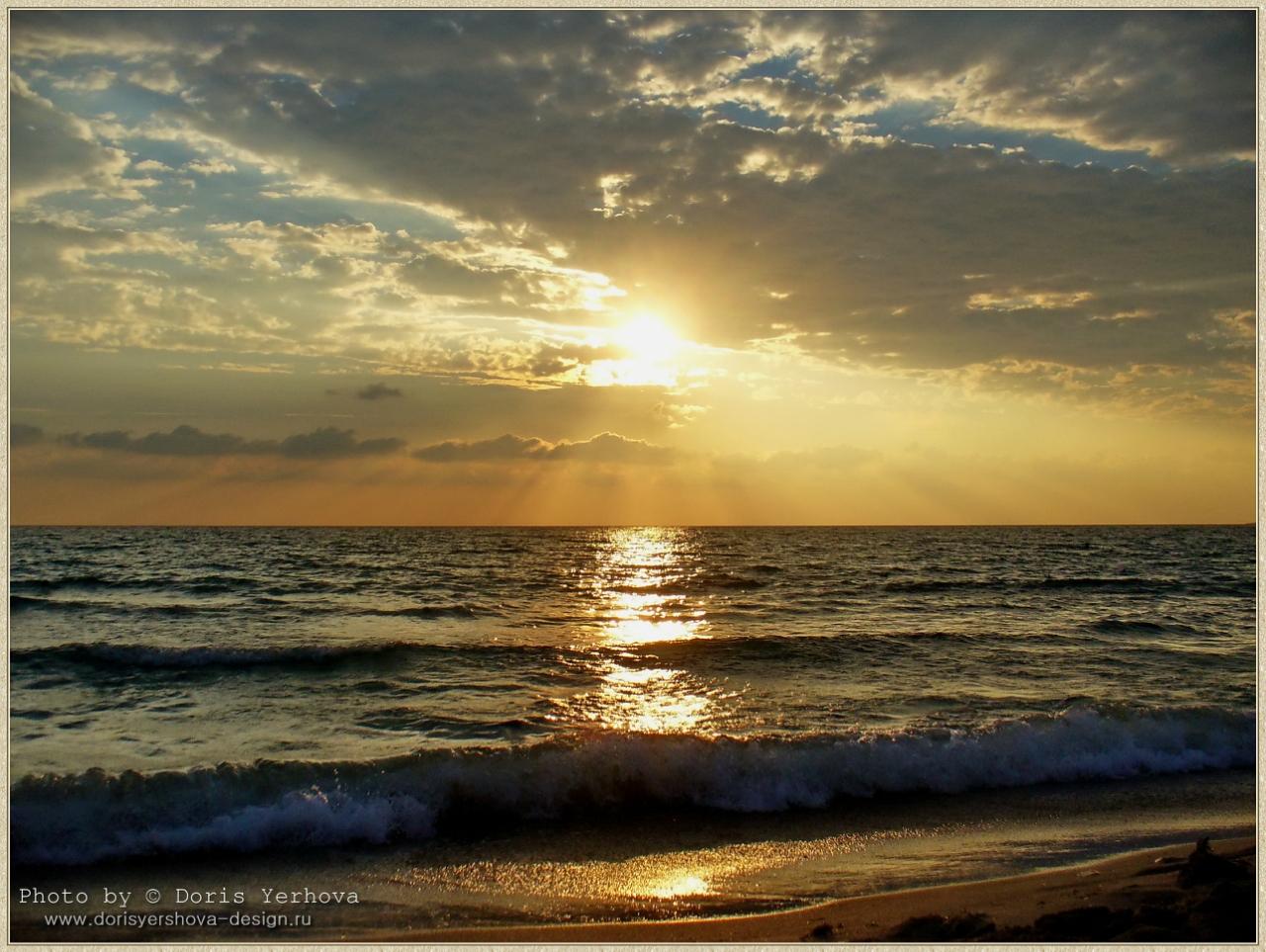 Черное море, Оленевка, фото - Дорис Ершовой, закат