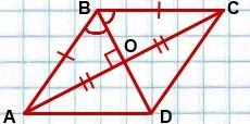 diagonali romba
