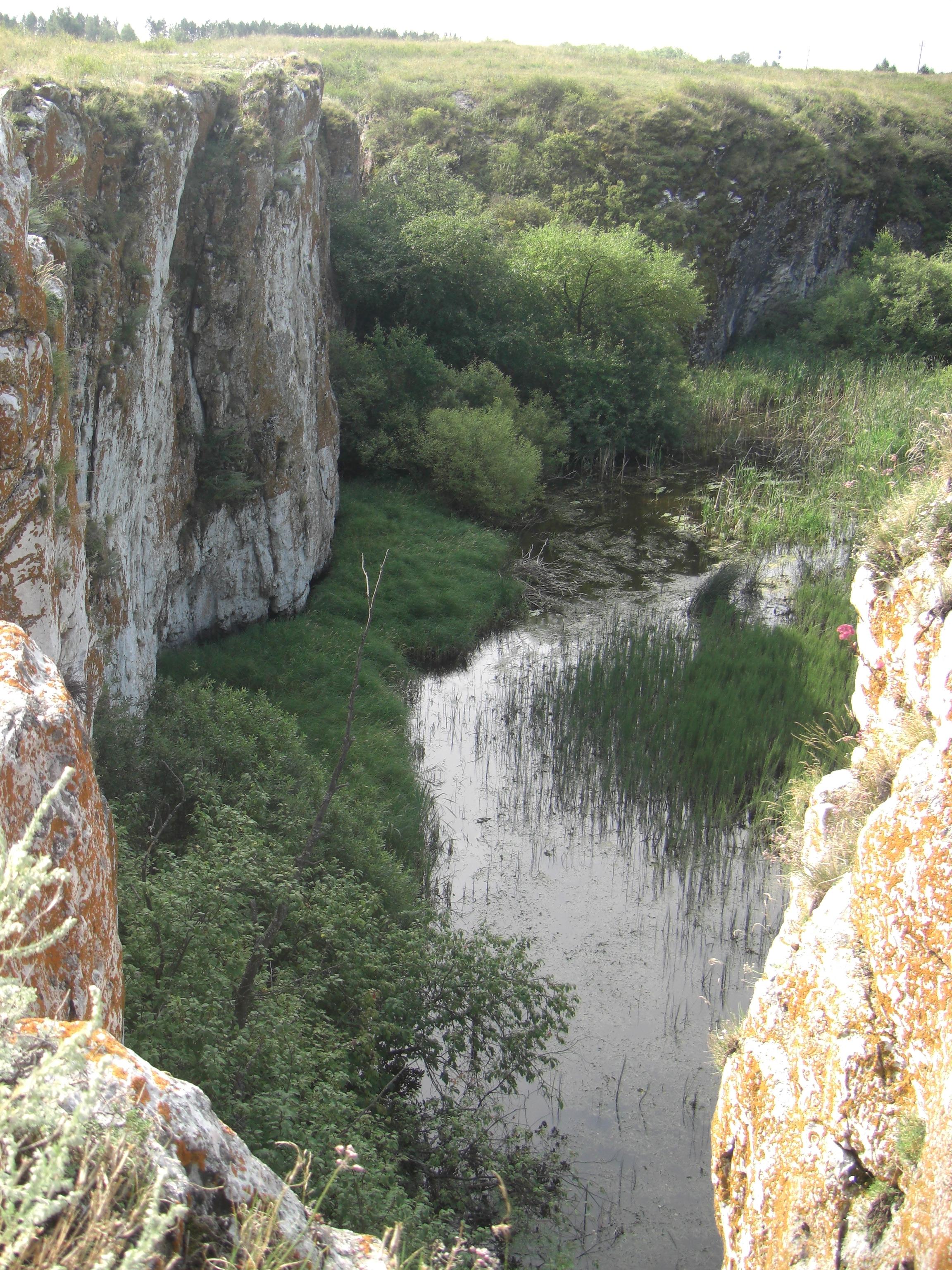 Устиновский каньон. Вид собрыва