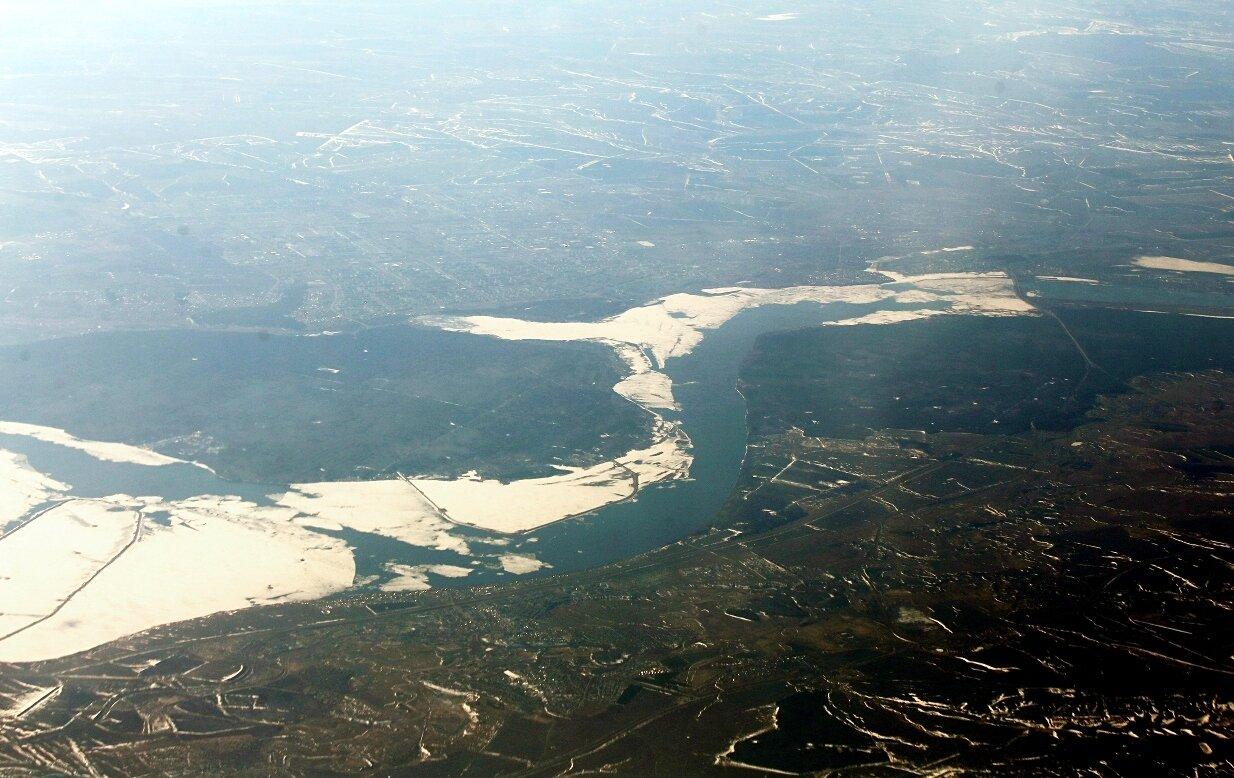 Нижняя часть Нижнекамского водохранилища.