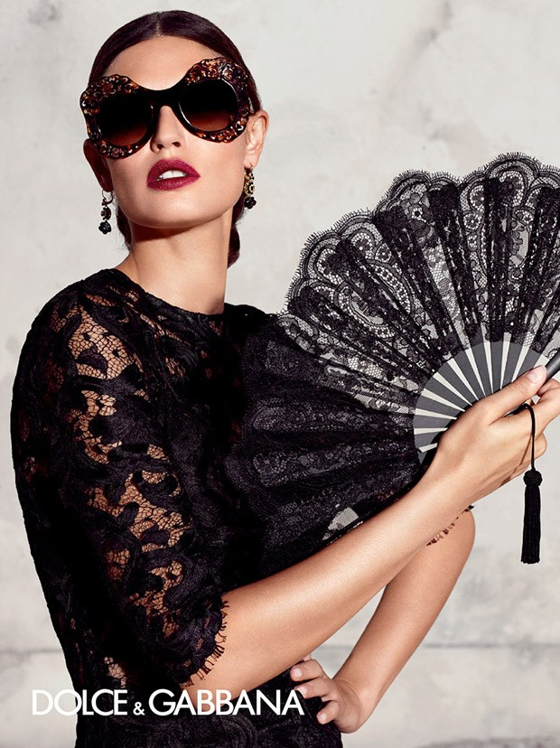 Бьянка Балти (Bianca Balti) в рекламной фотосессии для Dolce & Gabbana (5 фото)