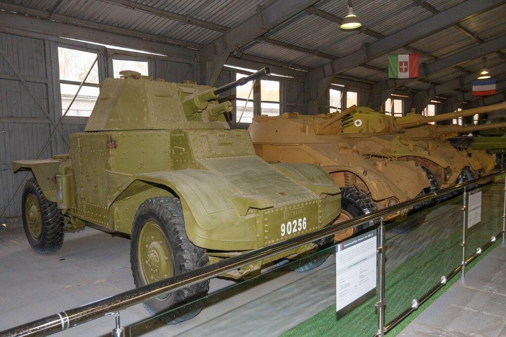 Колесный французский бронеавтомобиль Panhard, Кубинка