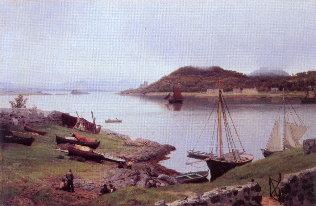 Hans Gude--Oban Bay, Skottland--1889..jpg