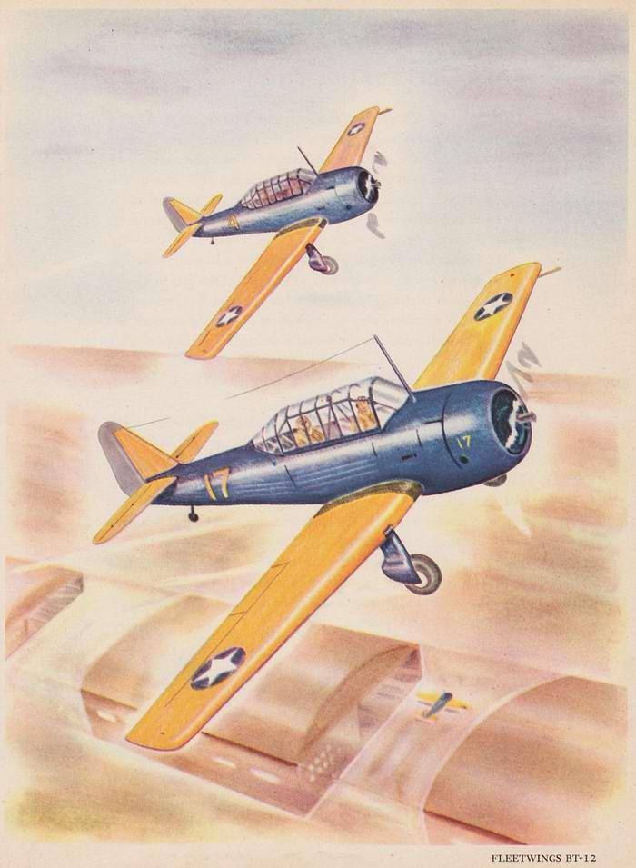 Fleetwings BT-12 - учебно-тренировочные самолеты