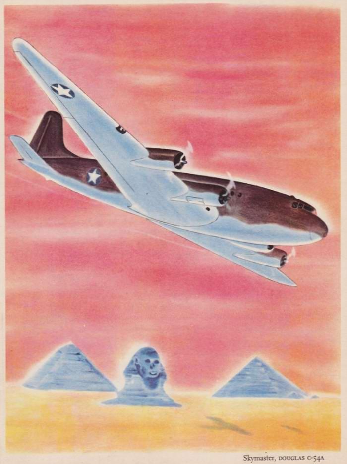 Douglas Skymaster C-54A - тяжелый транспортный самолет