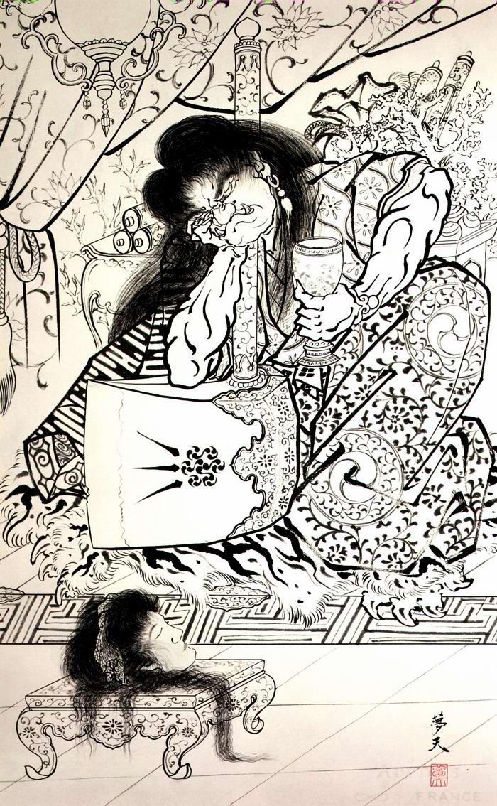 Злобные демоны на эскизах татуировок японского художника Horiyoshi (35)