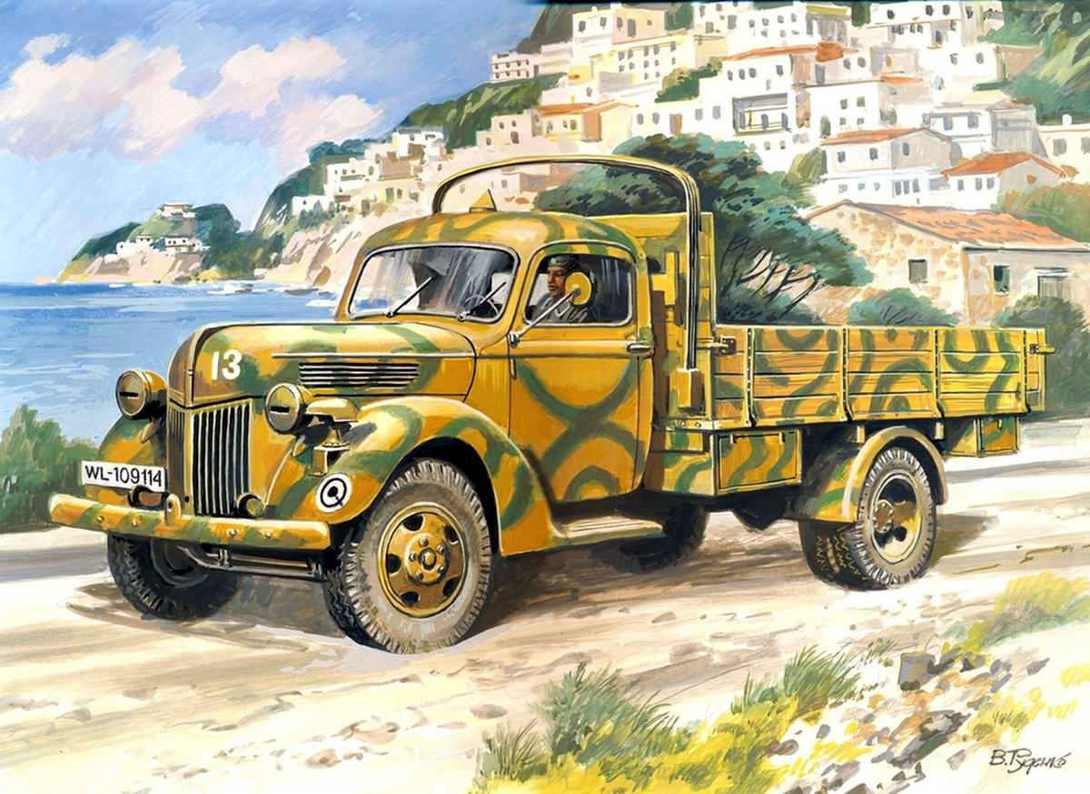 Армейский грузовой автомобиль Ford V3000