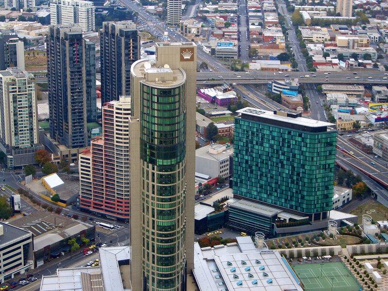 Панорама Мельбурна со смотровой площадки.