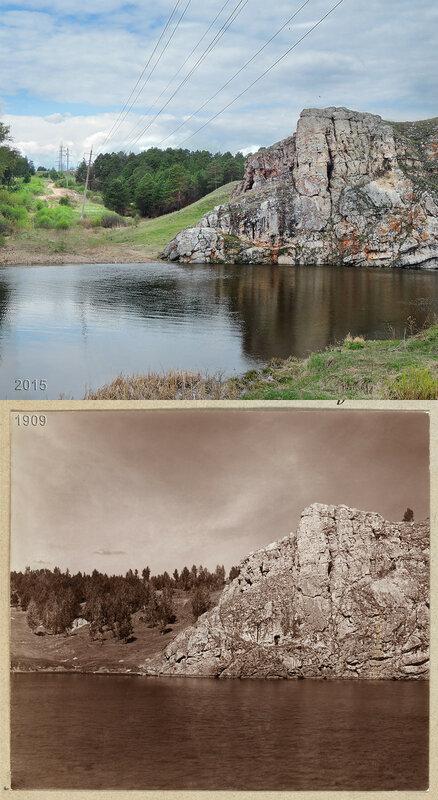 На реке Исети. Скала Три пещеры и Чиров лог.