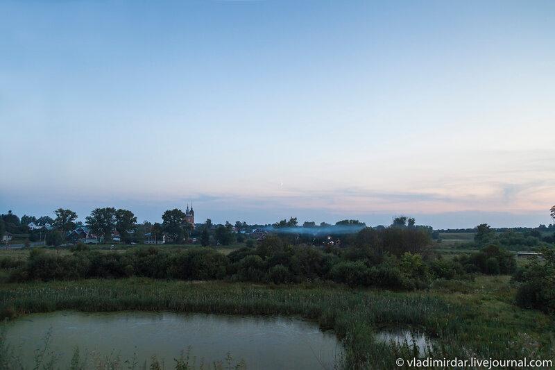 Ночь спускается над Суздальскими лугами