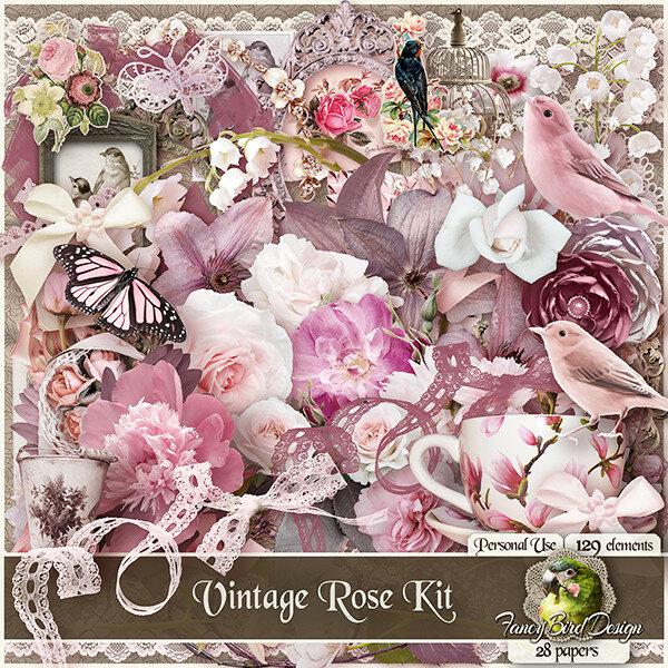 Scrap set Vintage rose