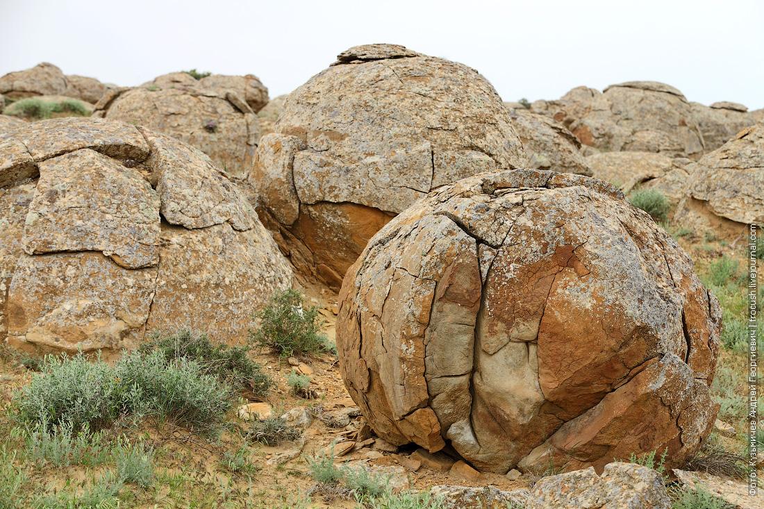 долина каменных конкреций Казахстан