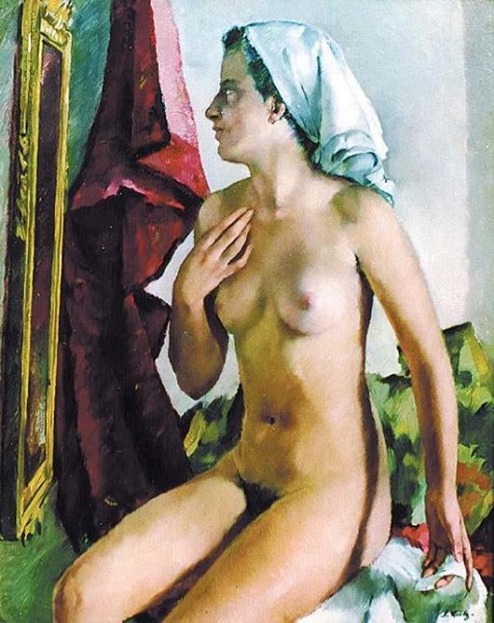 Герта перед зеркалом (1944), Антон Лутц (1894-1992), Австрия
