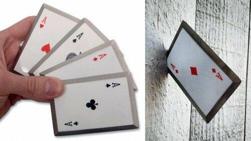 Игральные карты убивают четыре раза или больше