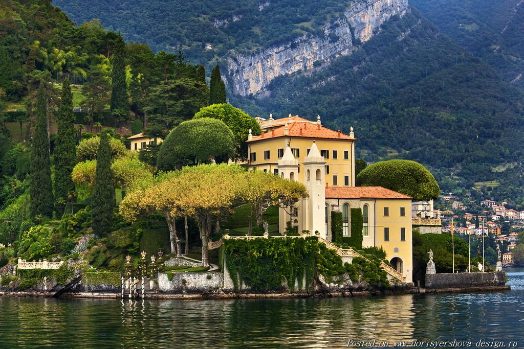 Италия, море, высокий берег, вилла