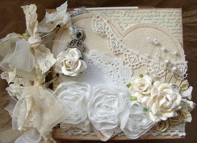 Свадебные альбомы в шебби шик и винтажном стиле