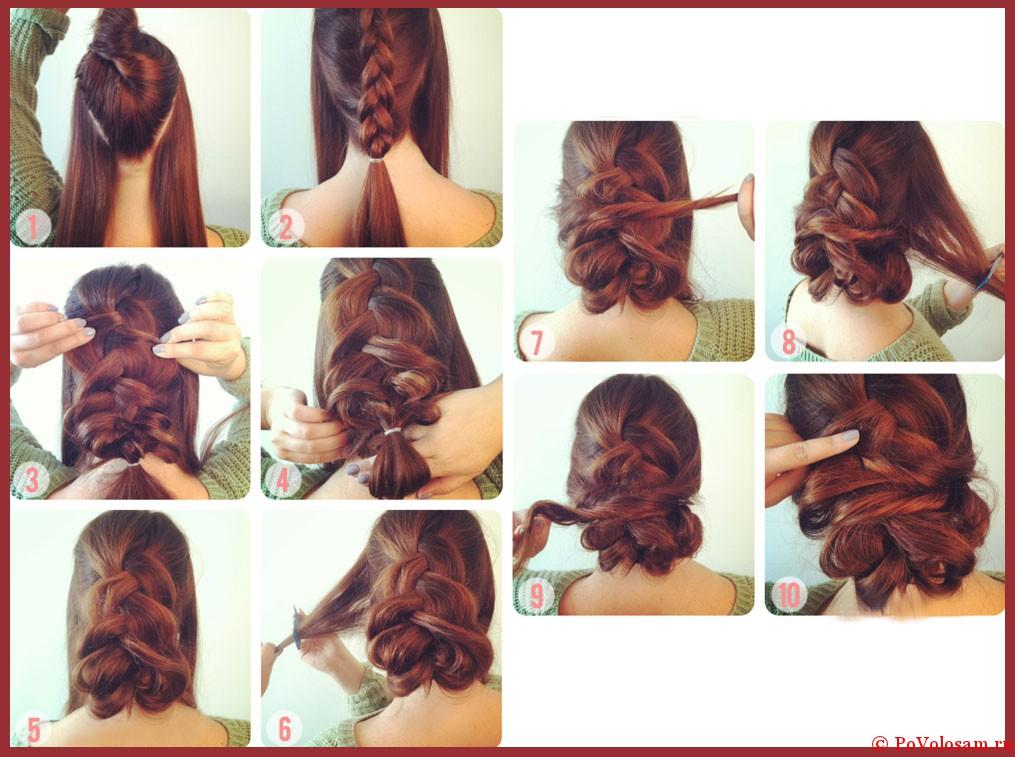 волосы — схемы плетения и
