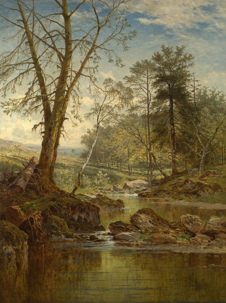 Benjamin Williams Leader - A sunny stream - Beardon, Dartmoor - 40246-20.jpg