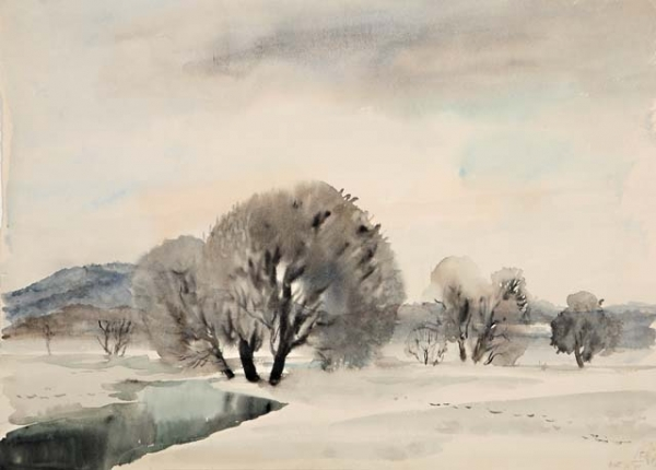 Пейзаж за рекой. 1938 г.