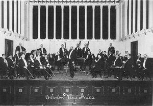Концерт первого общестуденческого симфонического оркестра студентов высших учебных заведений Санкт-Петербурга в зале Дворянского собрания. 1914 г.