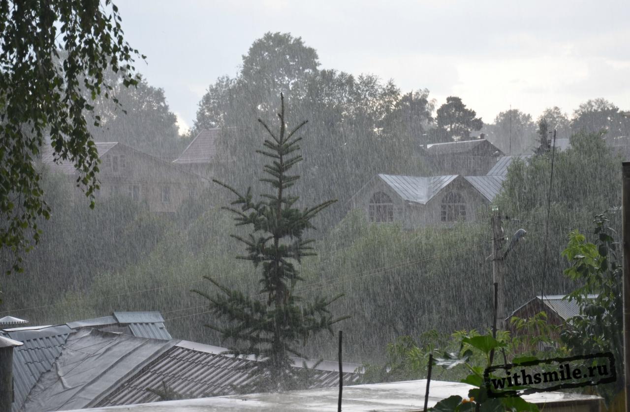 ливень в Сергиевом Посаде