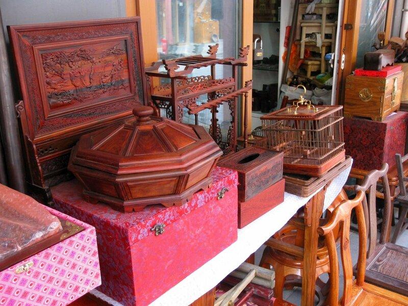 Изделия из дерева, рынок Паньцзяюань, Пекин