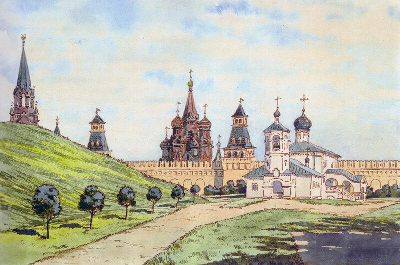 Проект благоустройства вокруг церкви Константина и Елены. 1928 г. Д.П. Сухов ГНИМА Р1-11980