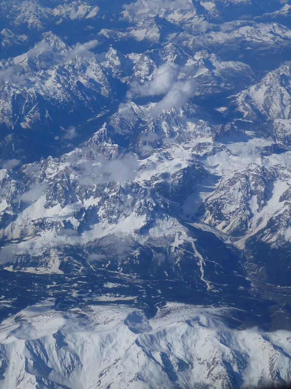 Альпы, вид с самолета (Alps, view from the airplane)