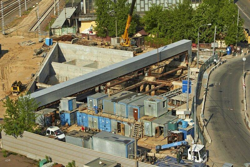 Строящийся Коптевский портал Алабяно-Балтийского туннеля