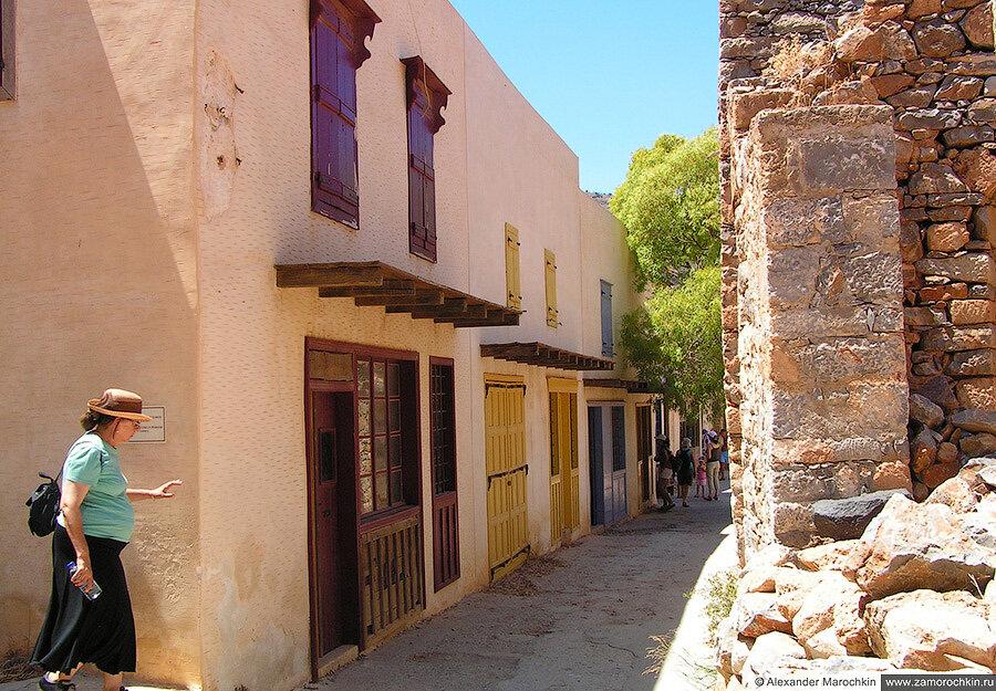 Здания бывшей колонии прокажённых на острове Спиналонга, Греция