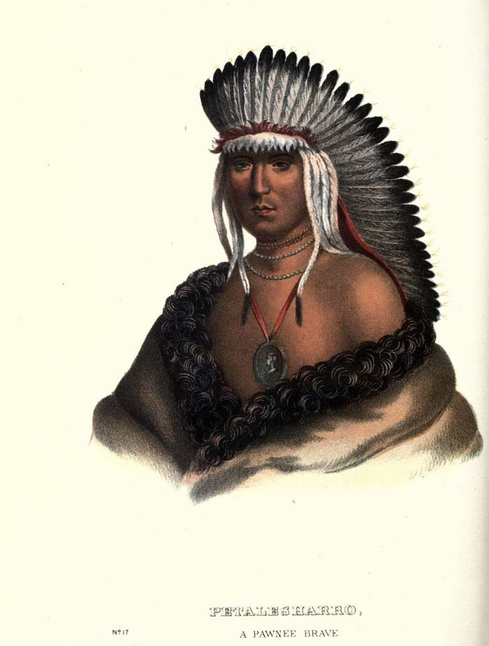 Воин племени Pawnee