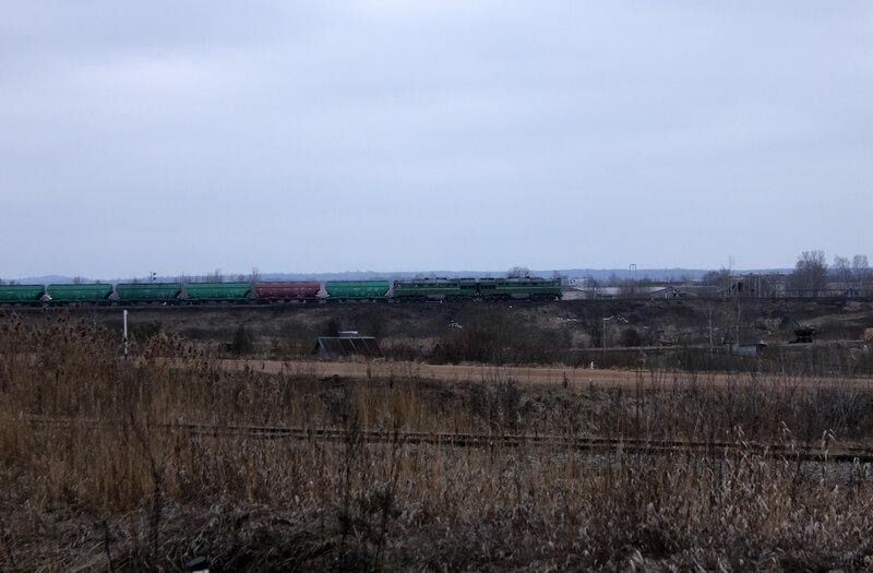 2ТЭ116 на перегоне Новосокольники - Выдумка