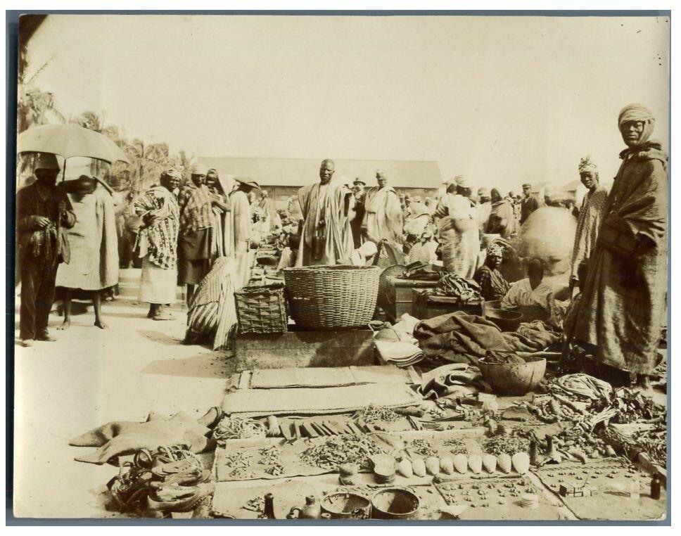 Рынок в Сен-Луи. 1900